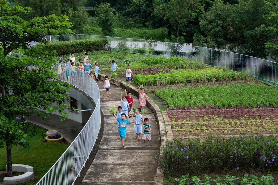VTN Architects plants Farming Kindergarten