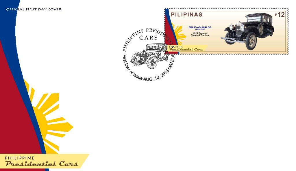 bluprint art heritage philately philippine presidential cars stamps