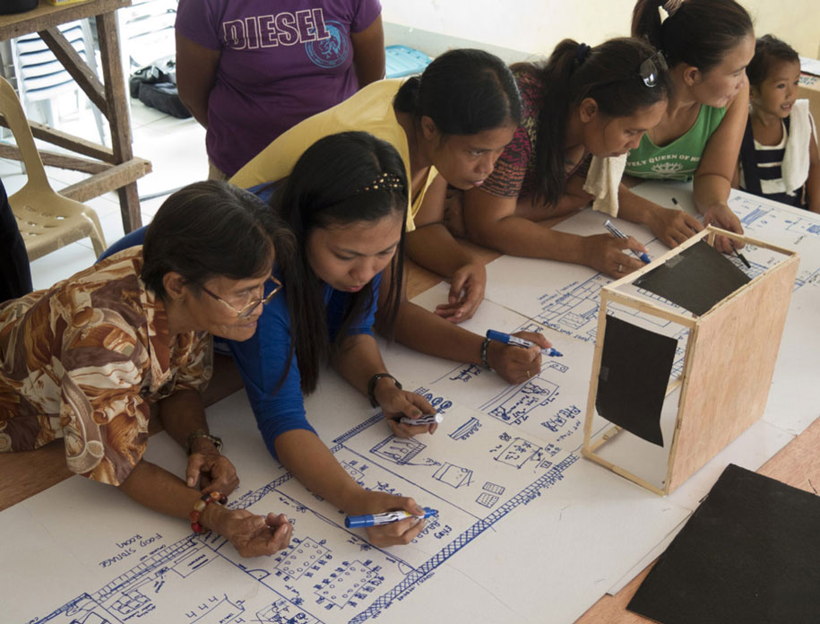 Mapping the study center floorplans with the mothers of the community