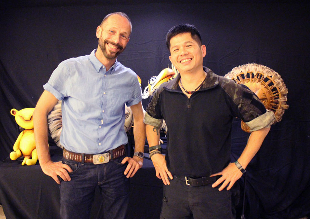 Mike Grimm and Tim Lucas head the puppet department for The Lion King's Manila run | Photo by Lawrence Carlos