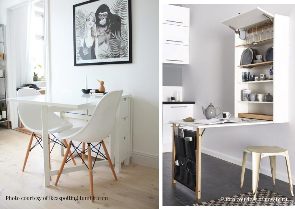 No Space For A Dining Area Try These 4 Dining Table Ideas For Small Condos