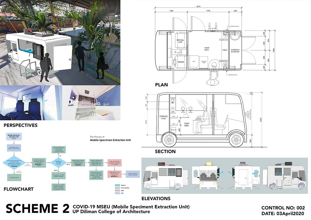 UP Diliman College of Architecture - testing vehicle - scheme 2